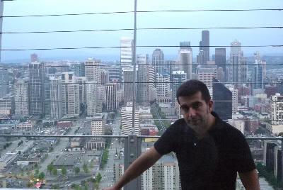Arriba del Space Needle. Panorámica de Seattle (2009)