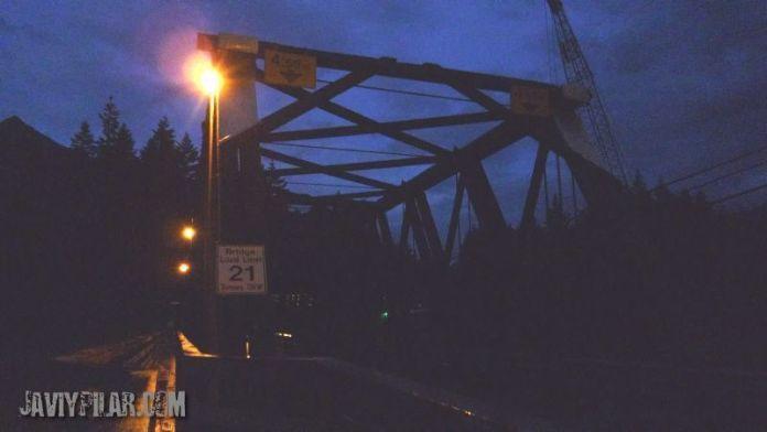 El puente de Rambo fotografiado durante nuestro viaje a Hope en 2010