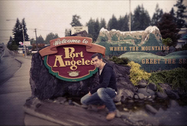 A la entrada de Port Angeles