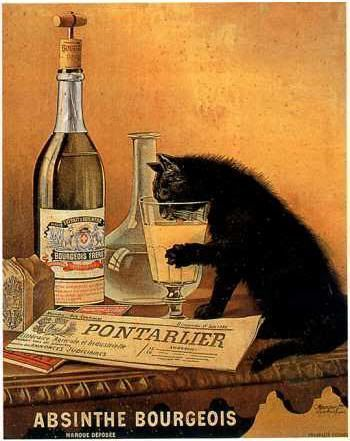 ABSINTHE BOURGEOIS (MOURGUE Brothers - Late 19th - Art Nouveau)