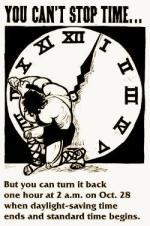 Anuncio sobre el cambio de hora y el ahorro