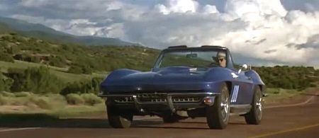 """Corvette C2 de 1966 en """"Arenas Blancas"""" (""""White Sands"""", 1992)"""