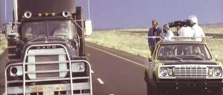 """Instantánea del rodaje de """"Convoy"""" (Sam Peckinpah, 1978)"""