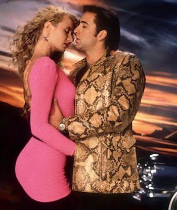 """Nicolas Cage y Laura Dern en """"Corazón Salvaje"""" (""""Wild At Heart"""", 1990)"""