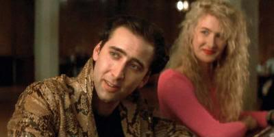 """Nicolas Cage y Laura Dern en """"Corazón Salvaje"""""""