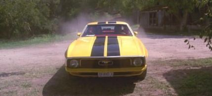 """Ford Mustang Grande 1972. """"Death Proof"""" (Quentin Tarantino, 2007)"""
