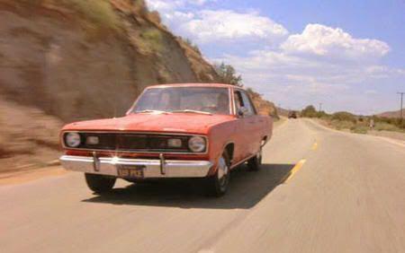 """El Plymouth Valiant del protagonista de """"El DiabloSobre Ruedas"""" (""""The Duel"""", 1971)"""