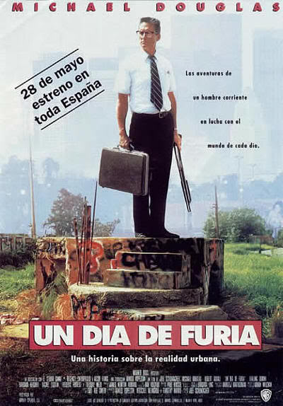 "Cartel de ""Un día de furia"" (""Falling Down"", 1992)"
