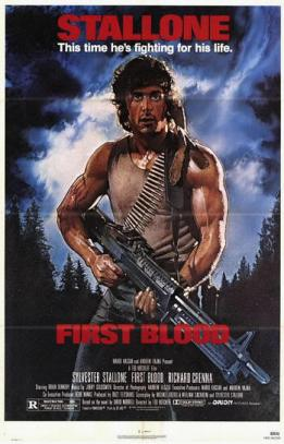 "Cartel de Acorralado (""First Blood"", 1982)"