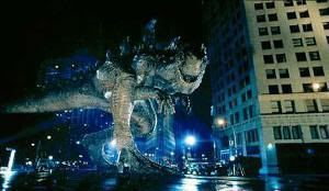 Godzilla paseando por Nueva York