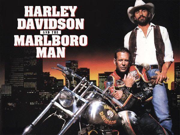 """Cartel de """"Dos Duros Sobre Ruedas"""" (""""Harley Davidson and the Marlboro Man"""", 1991)"""