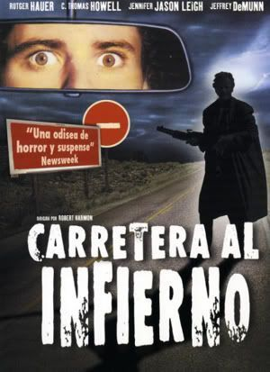 "Cartel de ""Carretera al Infierno"" (""The Hitcher"", 1986)"