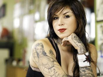 Kat Von D, tatuadora protagonista del programa de televisión L.A. Ink