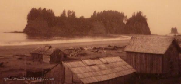 Playa de La Push (foto del año 1905 aproximadamente)