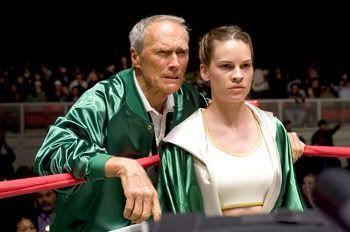 "Clint Eastwood y Hillary Swank en ""Million Dollar Baby"""