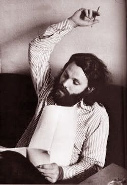 Jim Morrison escribiendo en 1970
