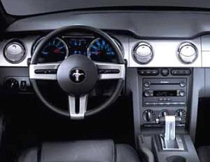 Interior del Mustang cuarta generación