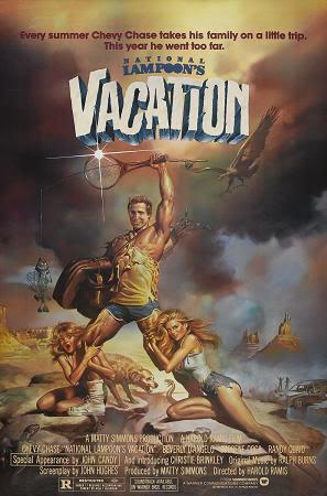 """Cartel de """"Las vacaciones de una chiflada familia americana"""" (""""National Lampoon's Vacation"""", 1983)"""