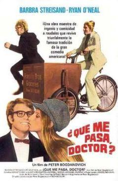"""Cartel de """"¿Qué Me Pasa, Doctor?"""" (""""What's Up, Doc?"""", 1972)"""