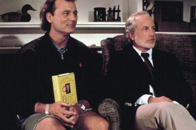 """Bill Murray y Richard Dreyfuss en """"¿Qué Pasa con Bob?"""" (""""What About Bob?"""" (1991)"""