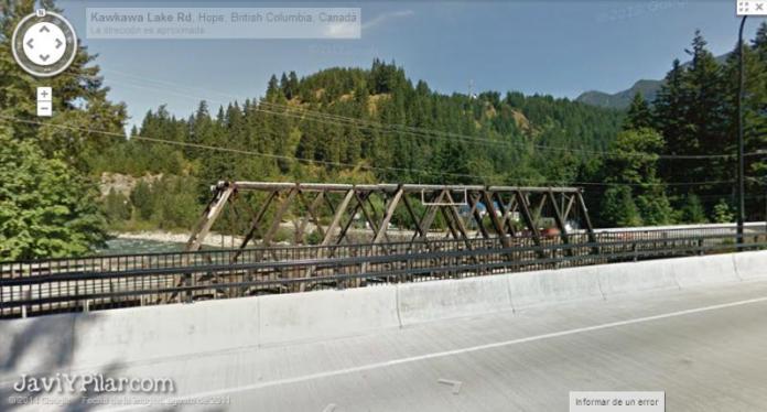 Imagen del puente de Rambo en Googlemaps