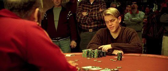 "Matt Damon en ""Rounders"" (1998)"