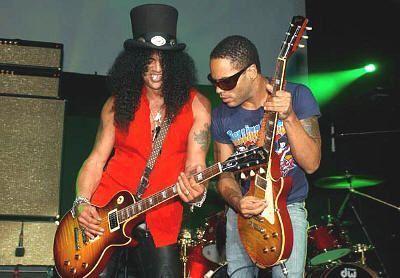 Slash y Lenny Kravitz