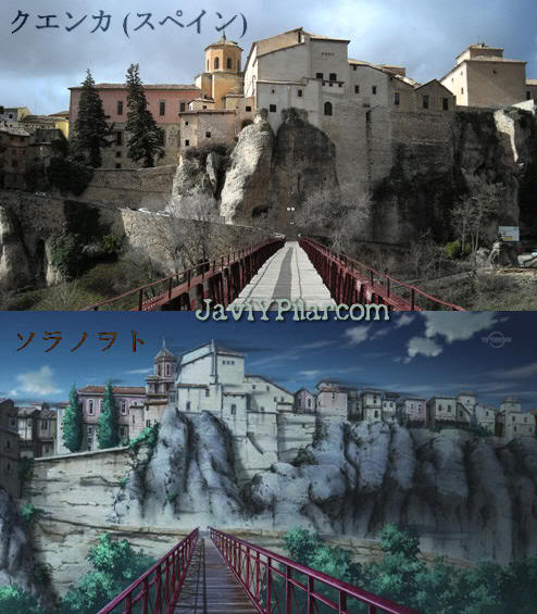Sora No Woto: un anime ambientado en Cuenca