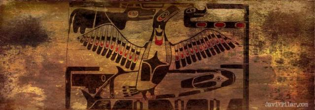Thunderbird and Whale.Mitología del noroeste de Estados Unidos