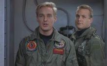 Los dos compañeros de armas antes de ser derribados