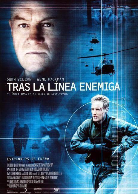 """Cartel de """"Tras la Línea Enemiga""""(""""Behind Enemy Lines"""", 2001)"""