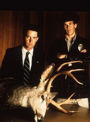 El agente Cooper y el sheriff Harry en Twin Peaks