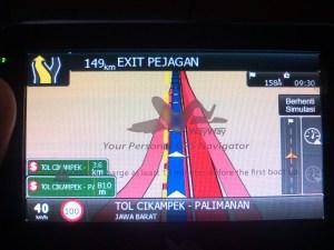 gps navigasi update tol cikapali