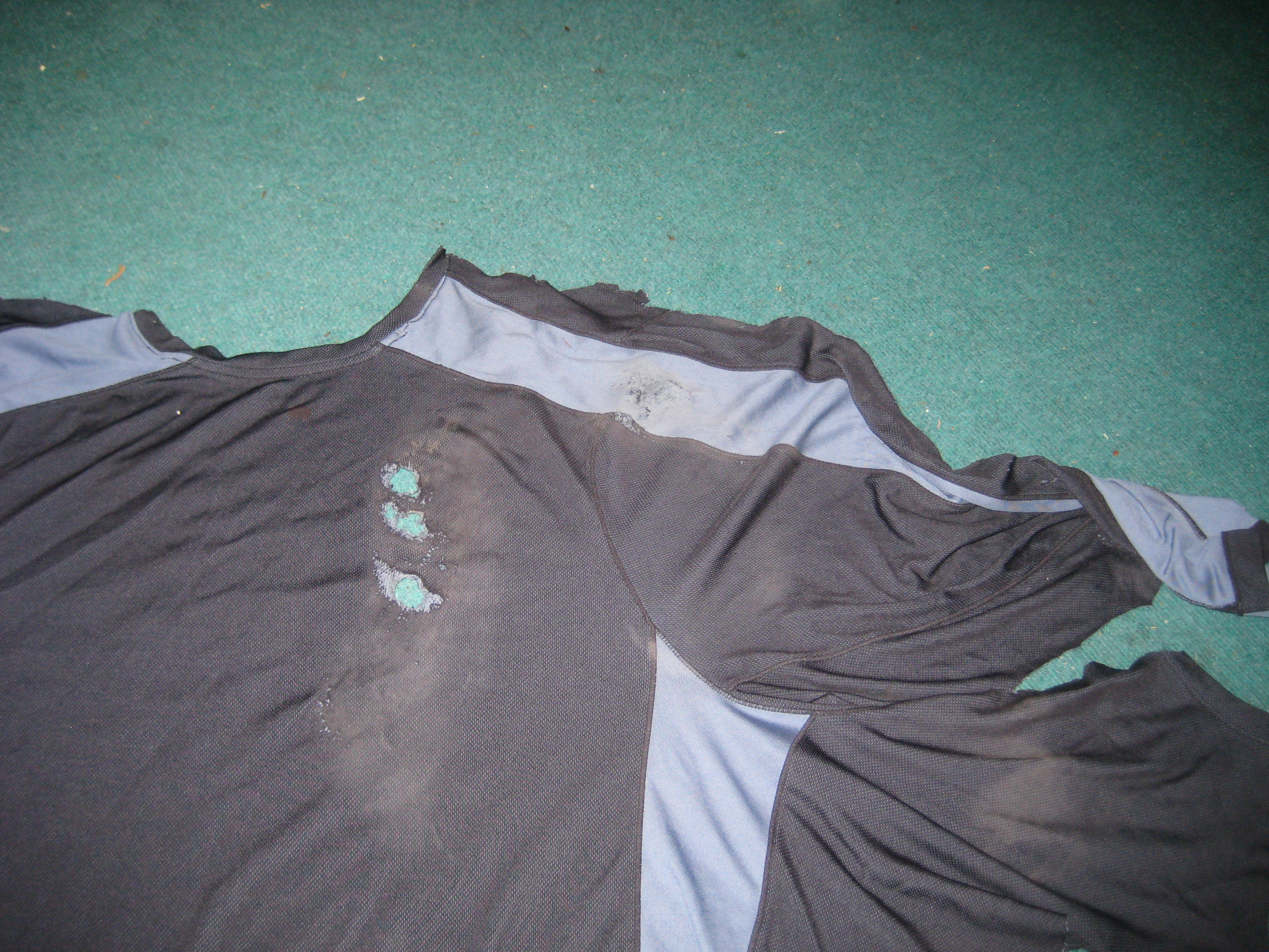 The shirt I was wearing at the time of my accident.