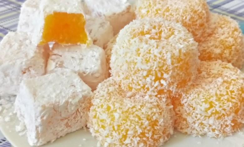 طريقة عمل حلوى الحلقوم التركية باليوسفي