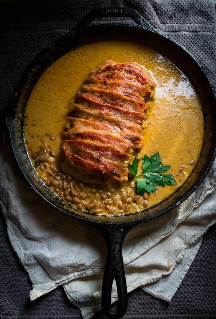 bacon wrapped baked bean meatloaf