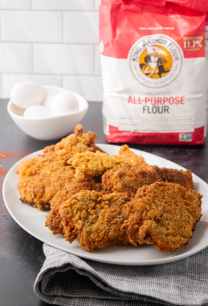 crispy fried chicken with parmesan