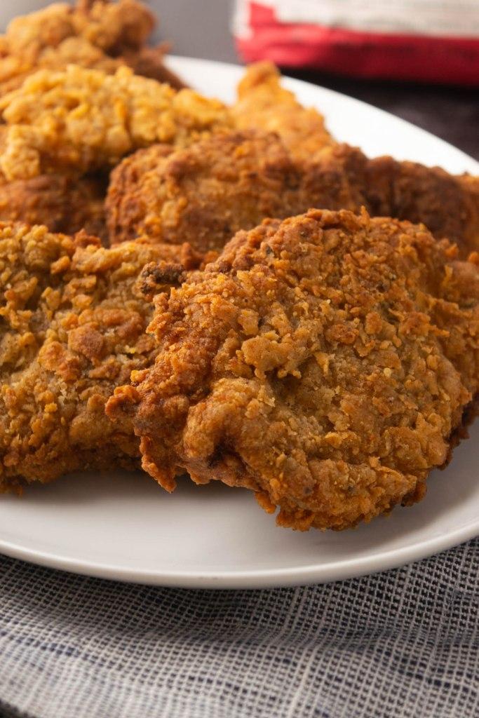 closeup fried chicken
