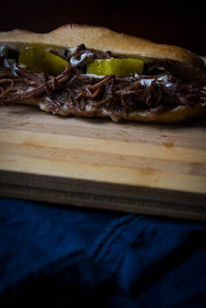 Pot Roast Grinder Sandwiches