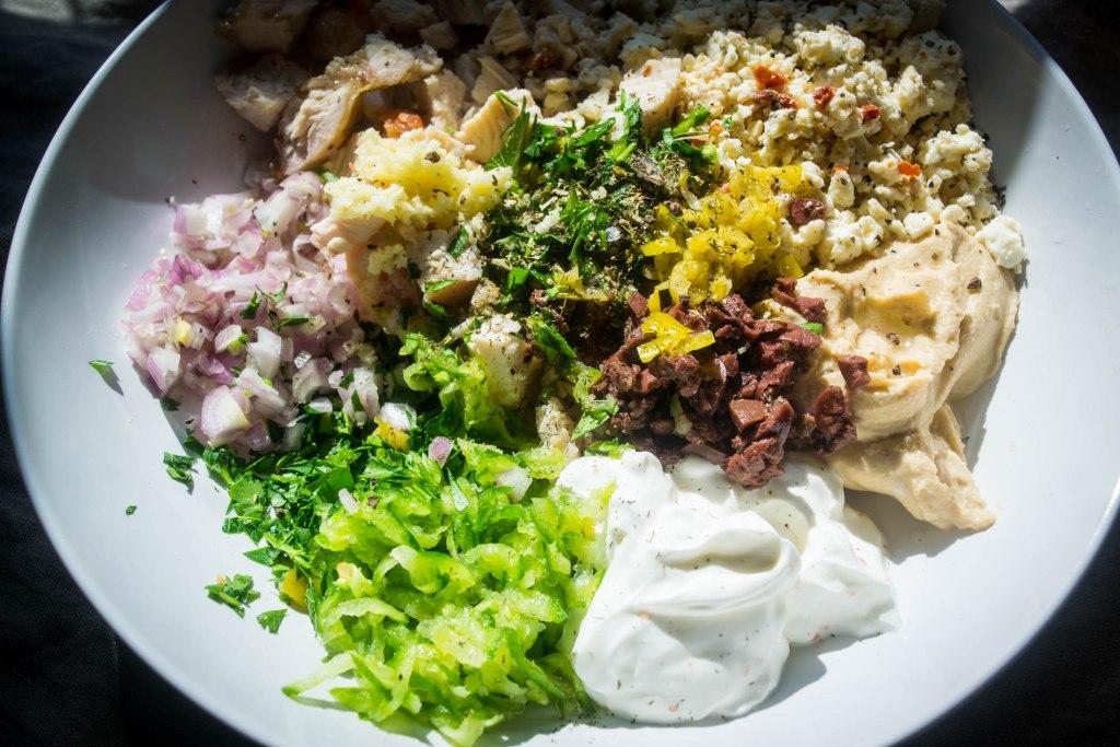 Greek chicken salad ingredients