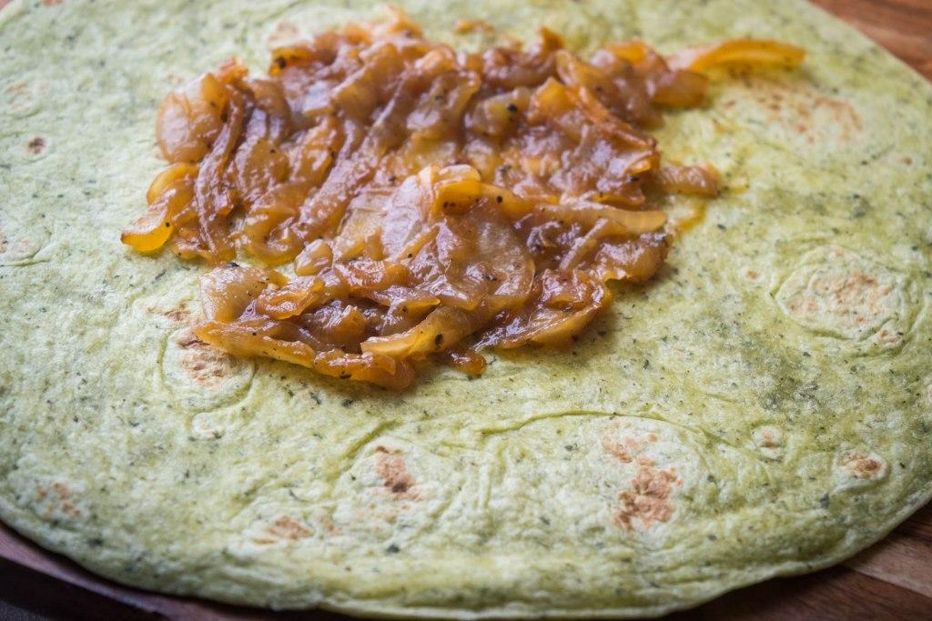 curried lentil  sweet potato wraps
