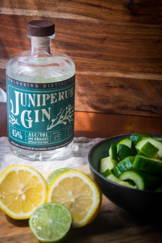 Cucumber Lime GINlet with Bluebird Distilling gin