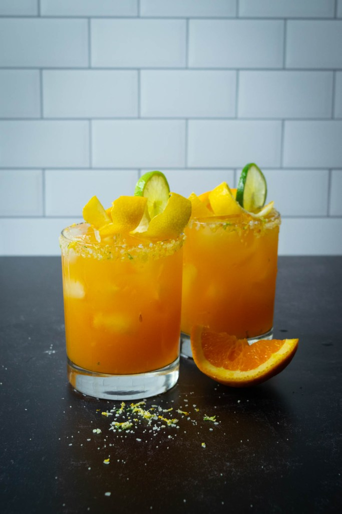 five alive margaritas with citrus salt