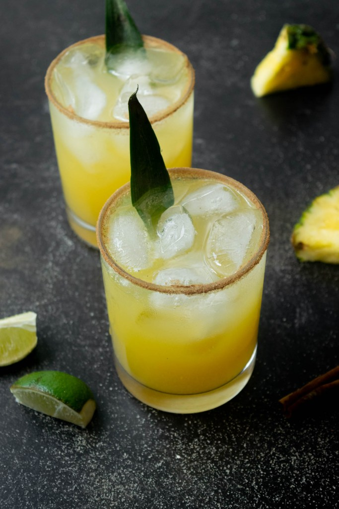 pineapple paloma with infused tequila