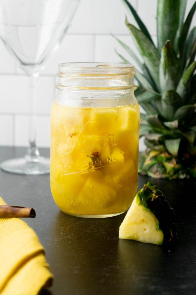 pineapple cinnamon infused tequila
