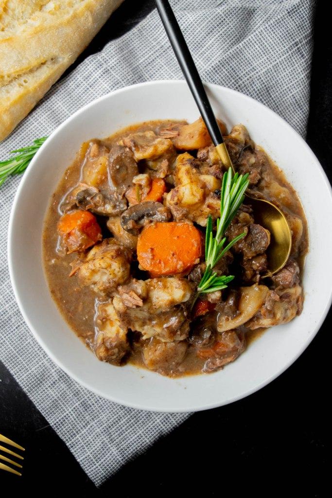 crockpot beef stew with dumplings