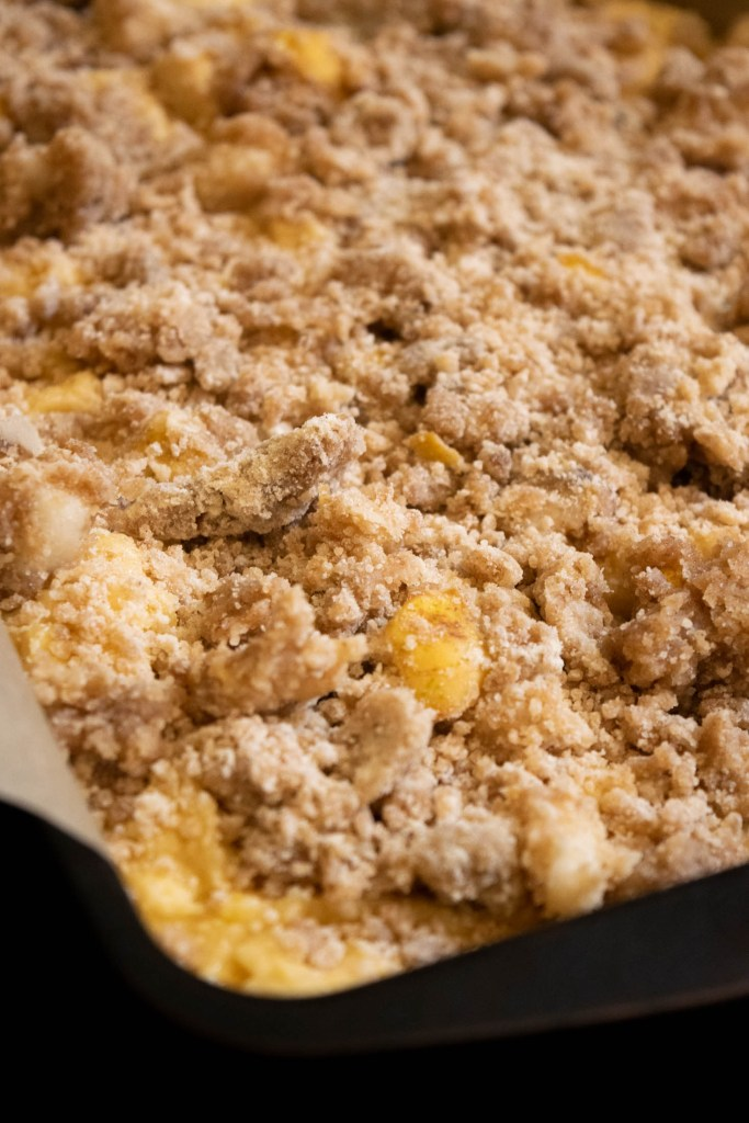 pear crumb topping