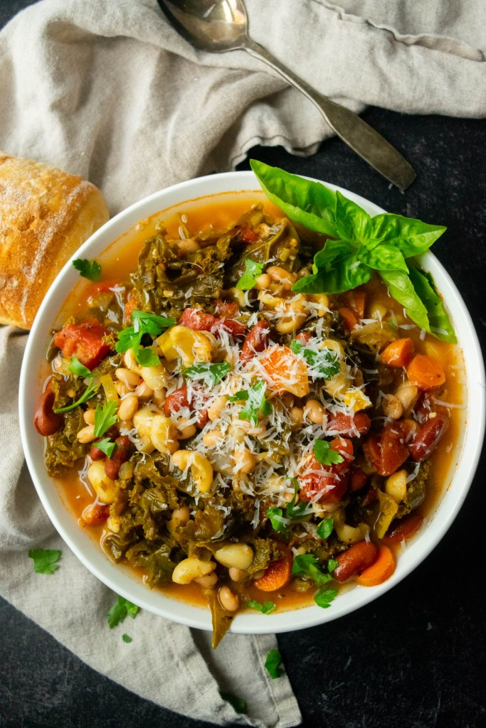 instant pot minestrone with parmesan