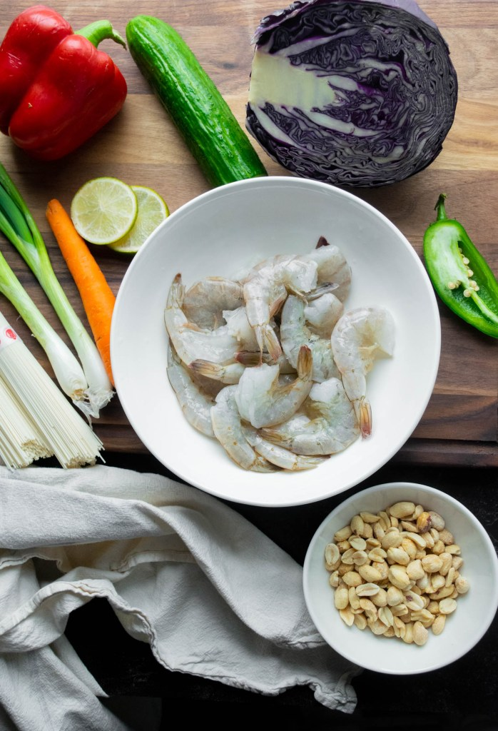 Asian noodle salad ingredients