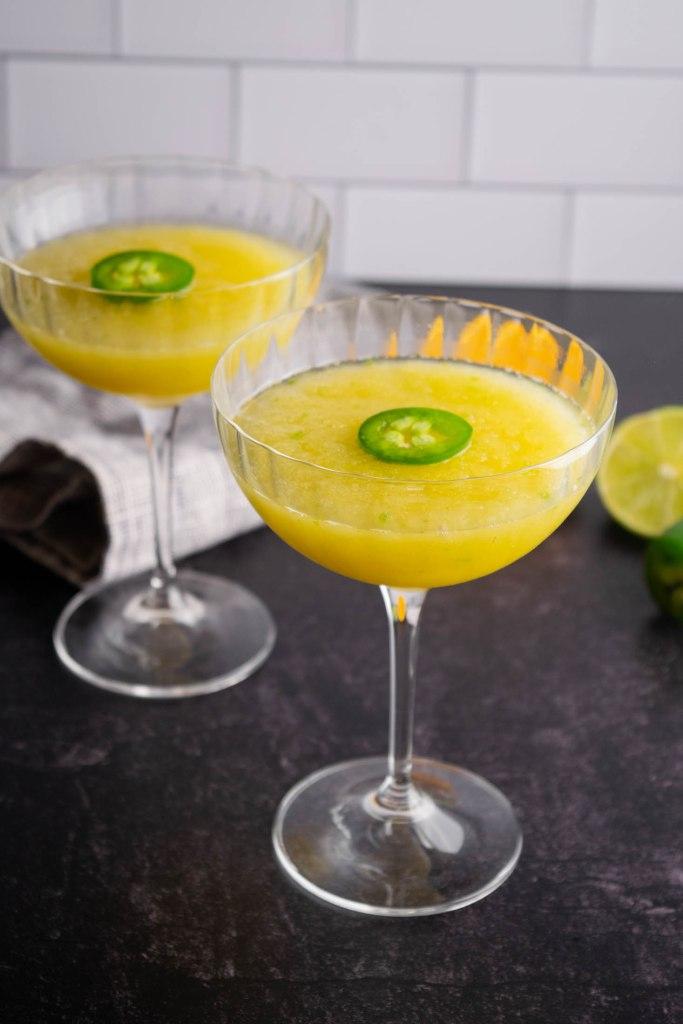 Pineapple Jalepeno Margarita Mocktail Slushy